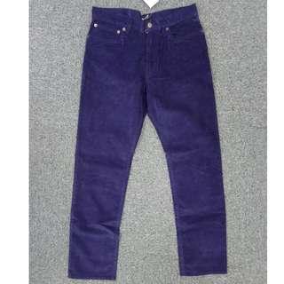 $170靚價入手!J.Crew Factory彈性時尚straight fit薄身深寶藍色燈芯絨褲