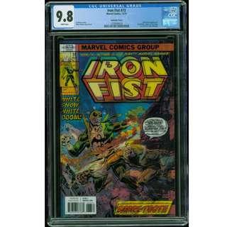 Marvel Iron Fist #73 Lenticular Homage CGC 9.8