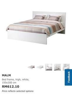 Ikea Bed Frame & Matress 2nd hand for 1 year