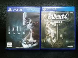 PS4  UNTIL DAWN ,FALLOUT 4
