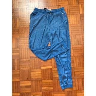 New Look Faux Denim Jogger Pants