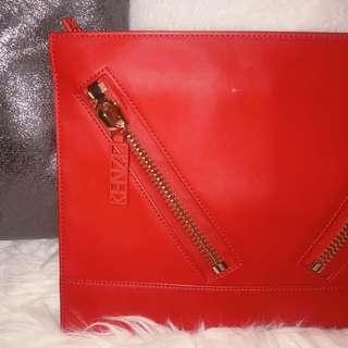 ❤️Kenzo clutch bag K lipstick red
