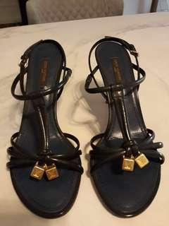 Louis Vuitton Navy Heels