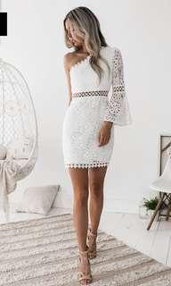 Elysian White Lace Dress