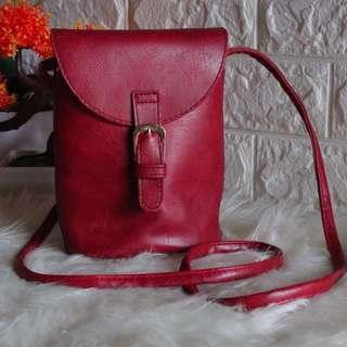MINI SLING BAG Maroon