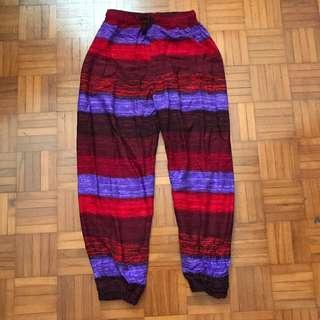 Striped Tie Dye Pants