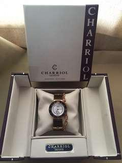 Charriol St. Tropez Large 30mm Bronze Cable Watch in Rose Gold/Pink Gold