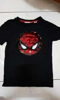 H&M Spiderman captain america beads t shirt