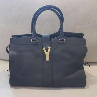 2630fcabbba9 Authentic YSL Medium Cabas Chyc Bag (Grey)
