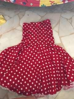 Red dots Tube dress