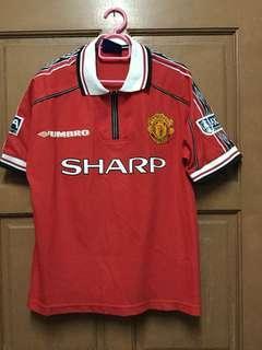 Original Manchester United 1998/1999 Home Kitt Jersey (Rare)