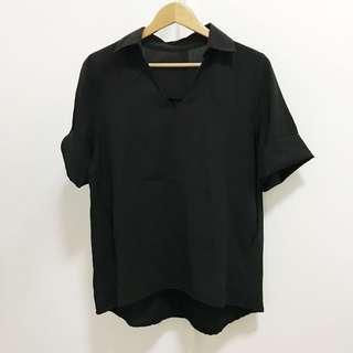 Black Oversized Polo