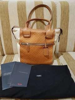 TUMI Women's Shoulder Bag Canvas Leather