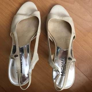 AUTHENTIC Beige Michael Kors heels