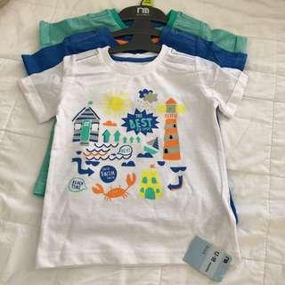 Mothercare 3-pack best kid ever beach shirts