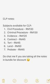 CLP Notes