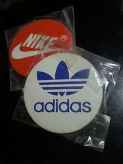 Vintage Adidas and Nike pins