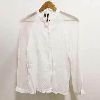 Mango Suit White Top