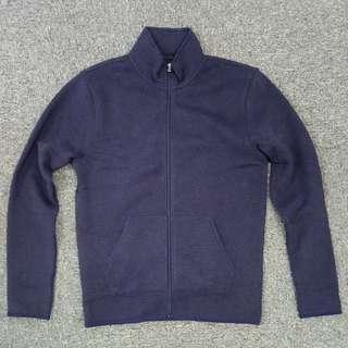 破23折$190入手!J.Crew Factory暗藍色中厚身fleece全拉鏈企領外套