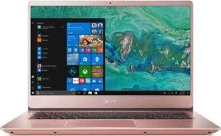 Acer swift 3 pink i7-8550U+8gb+256ssd+mx150+win10 ori garansi resmi