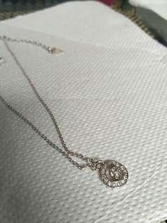 Guess G pendant coin necklace