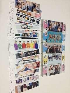 KPop idols bookmark w/ sticker