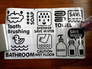 Bathroom stickers