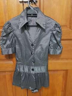 Ladies Black Office Wear Blouse #APR75
