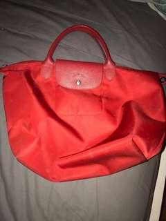Red Longchamp authentic