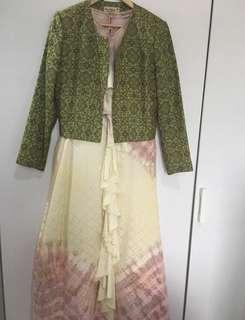 Dian pelangi dress n jacket