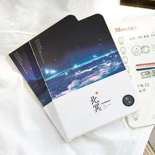 Glow in the dark cover notebook