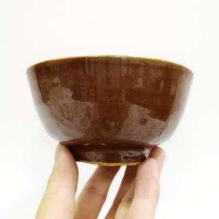 民国酱釉醴陵碗