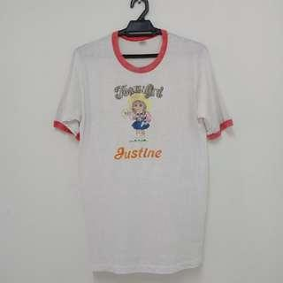 #FEBP55 Vintage tshirt iron on made in usa