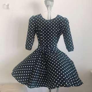 Polka Dot Flowy Dress