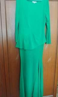 Emerald Green Dinner Dress
