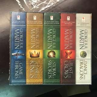 Game Of Thrones 冰與火之歌 A Song of Ice and Fire 一套5本 [全新未拆]