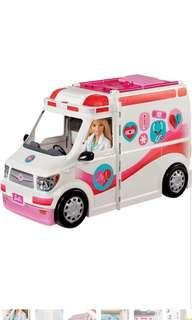 Barbie Care Clinic Vehicle Hospital Doctor Nurse Station Van Car