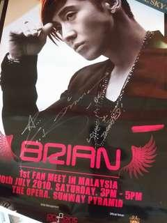 Autographed Brian Joo showcase poster