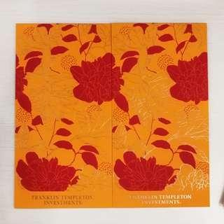🚚 8 pieces Franklin Templeton Red Packet Ang Pow
