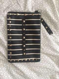 Miss Selfridge Stripe Grab Clutch #DEC30