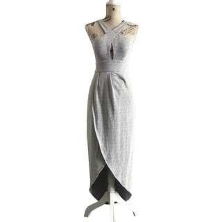Grey Evening Dress