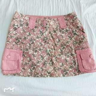 Mickey Mouse Denim Army Skirt in Pink