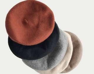 貝雷帽 卡其(駝色)、紅色
