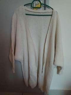 Knitted White Cardigan #SparkJoyChallenge