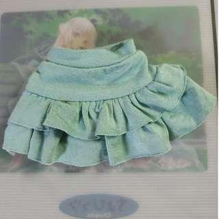 1/4 BJD MSD MDD Skirt Dark Green
