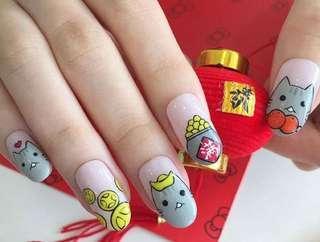 Salivan US nails for CNY !!