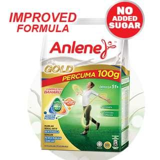 Anlene Move Max Gold Milk Powder - Plain 1Kg + Free 100g