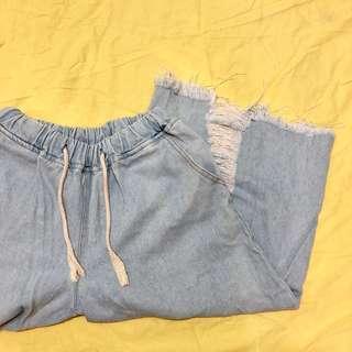 🚚 刷破鬆緊寬褲