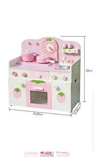 Timy Wooden Play Pretend Kitchen Strawberry Playfully Delicious Pretend Playset with Accessories