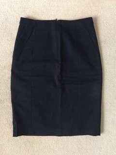 MARCS Navy Pencil Skirt size 6